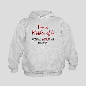Nothing Scares Mom 4 Kids Hoodie