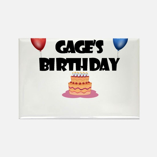 Gage's Birthday Rectangle Magnet