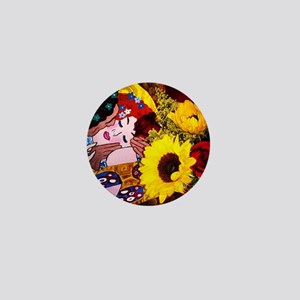 Art & Flowers Mini Button