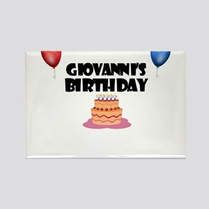 Giovanni's Birthday Rectangle Magnet