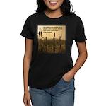 Chief Joseph Earth Quote Women's Dark T-Shirt
