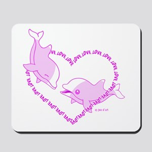 Love Dolphins Mousepad