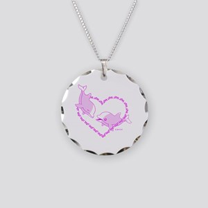 Love Dolphins Necklace Circle Charm