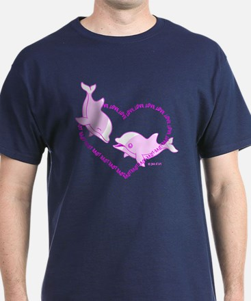 I Love Dolphins (Pink) T-Shirt