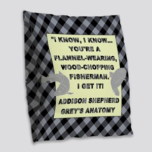 I KNOW, I KNOW... Burlap Throw Pillow