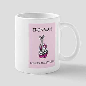 Ironman congratulations for female. Mugs