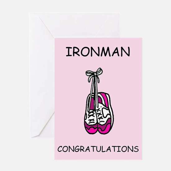 Ironman congratulations for female. Greeting Cards