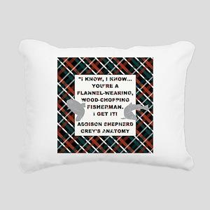 I KNOW, I KNOW... Rectangular Canvas Pillow