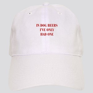 IN-DOG-BEERS-BOD-RED Baseball Cap