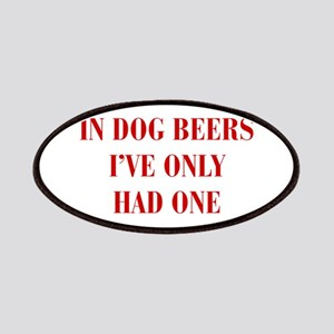 IN-DOG-BEERS-BOD-RED Patches