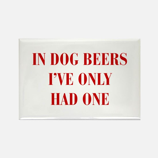 IN-DOG-BEERS-BOD-RED Magnets