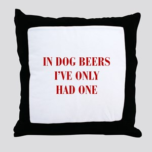 IN-DOG-BEERS-BOD-RED Throw Pillow