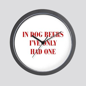 IN-DOG-BEERS-BOD-RED Wall Clock