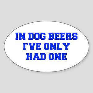 IN-DOG-BEERS-FRESH-BLUE Sticker