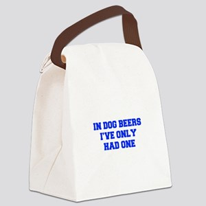 IN-DOG-BEERS-FRESH-BLUE Canvas Lunch Bag