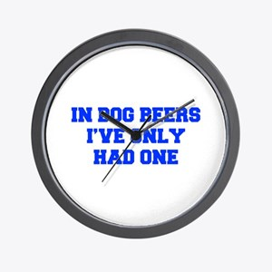 IN-DOG-BEERS-FRESH-BLUE Wall Clock
