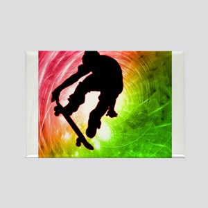 Skateboarder in a Psychedelic Magnets