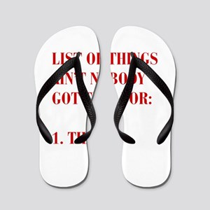 LIST-OF-THINGS-BOD-RED Flip Flops