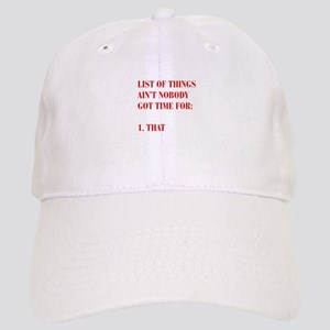 LIST-OF-THINGS-BOD-RED Baseball Cap