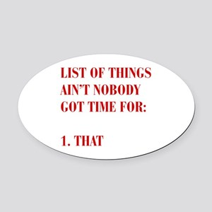 LIST-OF-THINGS-BOD-RED Oval Car Magnet