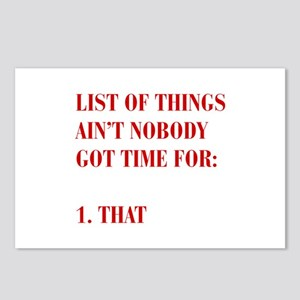 LIST-OF-THINGS-BOD-RED Postcards (Package of 8)