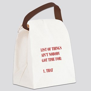 LIST-OF-THINGS-BOD-RED Canvas Lunch Bag