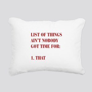 LIST-OF-THINGS-BOD-RED Rectangular Canvas Pillow