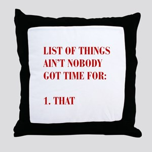 LIST-OF-THINGS-BOD-RED Throw Pillow