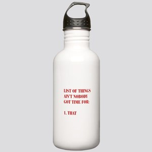 LIST-OF-THINGS-BOD-RED Water Bottle