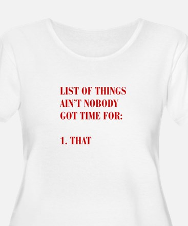 LIST-OF-THINGS-BOD-RED Plus Size T-Shirt