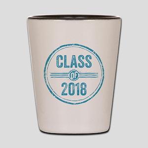 Stamp Class of 2018 Blue Shot Glass