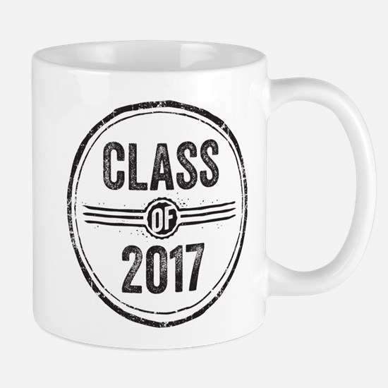 Stamp Class of 2017 Black Mugs