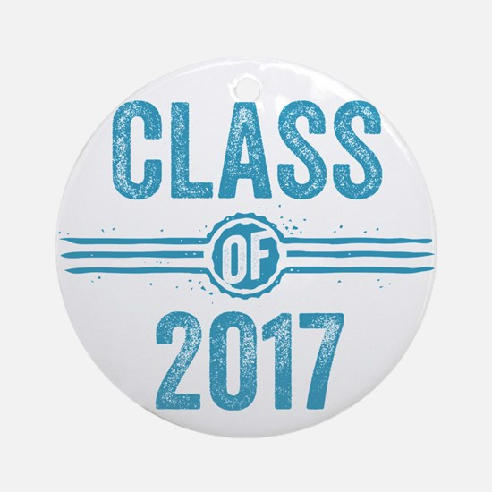 Stamp Class of 2017 Blue Ornament (Round)