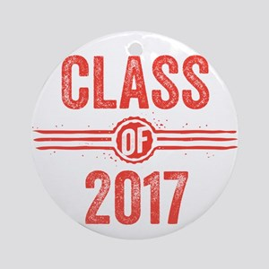 Stamp Class of 2017 Red Ornament (Round)