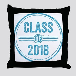 Stamp Class of 2018 Blue Throw Pillow