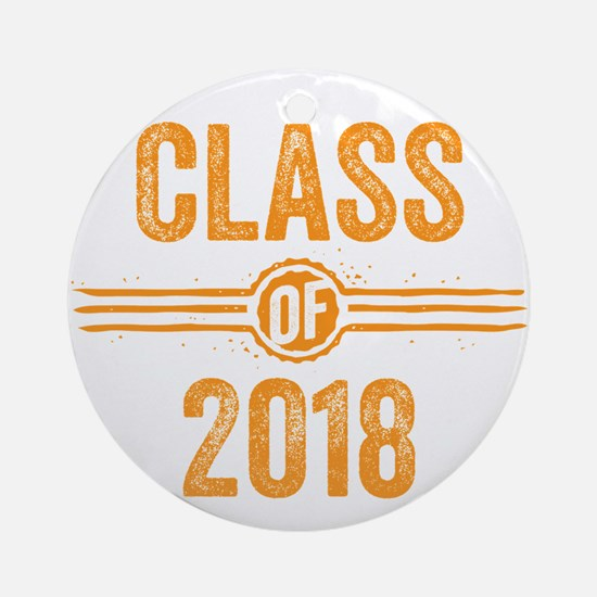Stamp Class of 2018 Orange Ornament (Round)