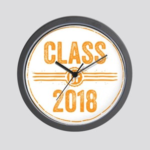 Stamp Class of 2018 Orange Wall Clock