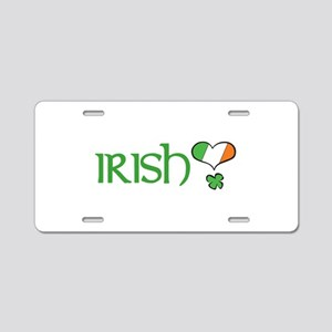 Irish Heart Aluminum License Plate