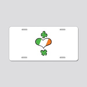 Ireland Heart Flag Aluminum License Plate