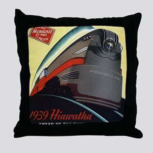 Hiawatha_Milwaukee_Road_Advertisement Throw Pillow