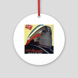 Hiawatha_Milwaukee_Road_Advertiseme Round Ornament