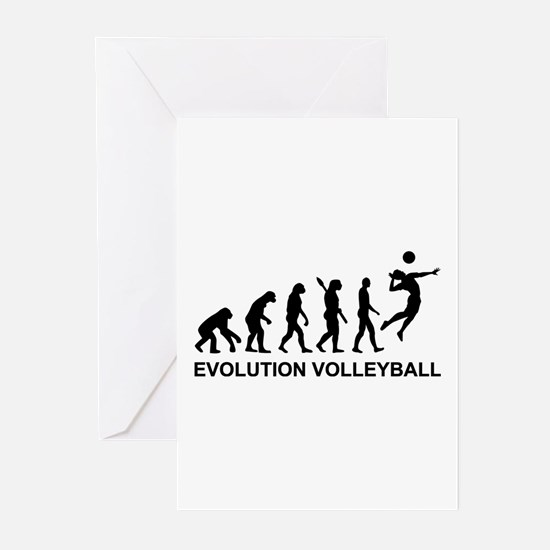 Evolution Volleyball Greeting Cards (Pk of 10)