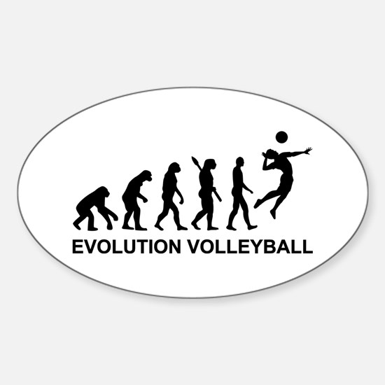 Evolution Volleyball Sticker (Oval)