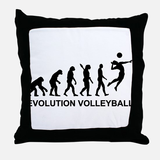 Evolution Volleyball Throw Pillow