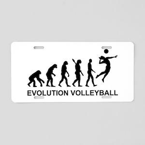 Evolution Volleyball Aluminum License Plate