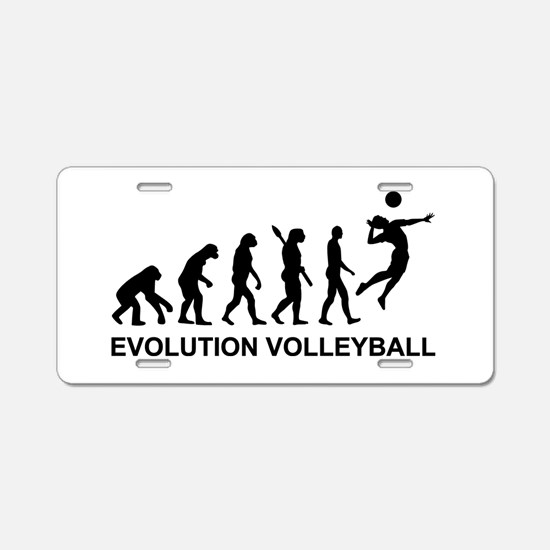 Evolution Volleyball Aluminum License Plate
