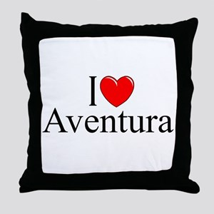 """I Love Aventura"" Throw Pillow"