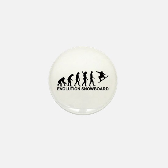 Evolution Snowboarding Snowboard Mini Button
