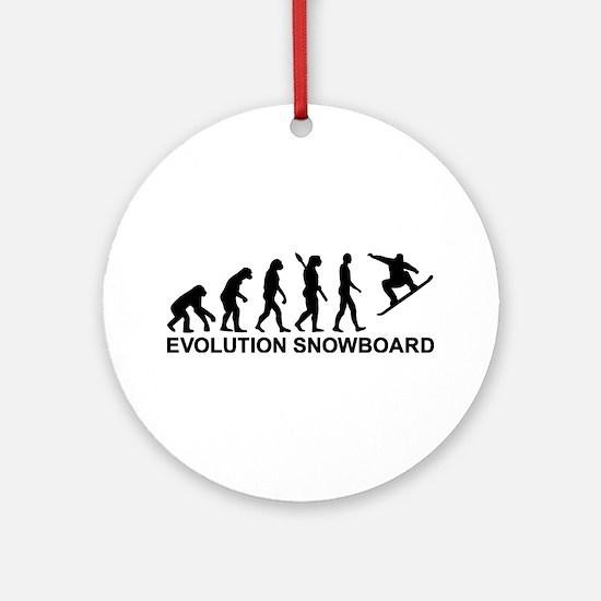 Evolution Snowboarding Snowboard Ornament (Round)