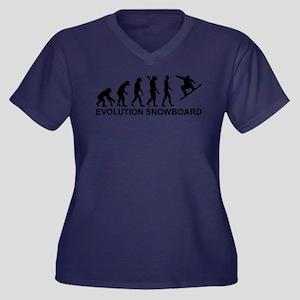 Evolution Sn Women's Plus Size V-Neck Dark T-Shirt